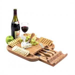 Cheese Board with  4 Cheese Utensils