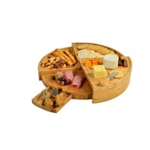 Expanding  Cheese Board with  3 Cheese Utensils