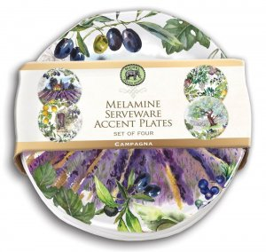 Michel Design Works Campagna Melamine Accent Plate Set Style #SWPS283