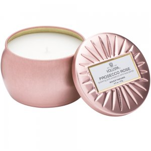 Voluspa Petite Decorative Tin Candle - Prosecco Rose - Style #6826