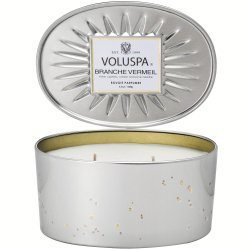 Voluspa Oval Tin 2 Wick Candle - Branche Vermeil - Style #6835