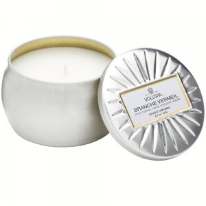 """Voluspa"" Petite Decorative Tin Candle - Branche Vermeil - Style #6825"
