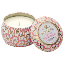 """Voluspa"" Petite Decorative Tin Candle - Saijo Persimmon - Style #26115"
