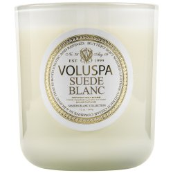 """""""Voluspa"""" Classic Maison Candle - Suede Blanc - Style #2602"""
