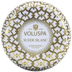 Voluspa Maison Metallo 2 Wick Candle - Suede Blanc - Style #2632
