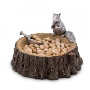 Arthur Court Squirrel Nut Bowl with Scoop