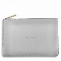 Katie Loxton Perfect Pouch - Shine Bright - Metallic Silver