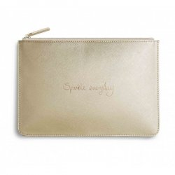 Katie Loxton Perfect Pouch - Sparkle Everyday - Metallic Gold