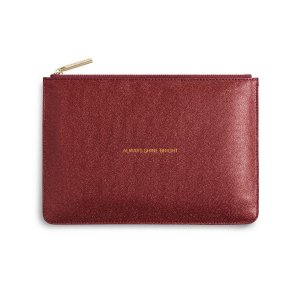 Katie Loxton Perfect Pouch - Always Shine Bright - Shiny Red