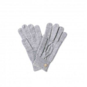 Katie Loxton Cable Knit Gloves - Charcoal Grey
