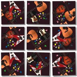 9 Piece Puzzle - Guitars