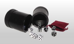 Double Leather Dice Cups