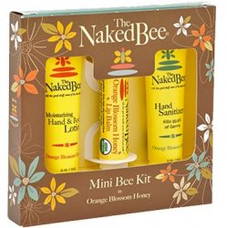 The Naked Bee Orange Blossom Honey Body Lotion, Lip Balm,  Hand Sanitizer