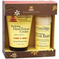 The Naked Bee Orange Blossom Honey Hand and Foot Repair Set