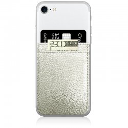 iDecoz Silver Leather Phone Pocket