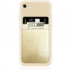 iDecoz Gold Leather Phone Pocket