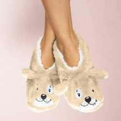 Faceplant Dreams Tan Dog Slippers