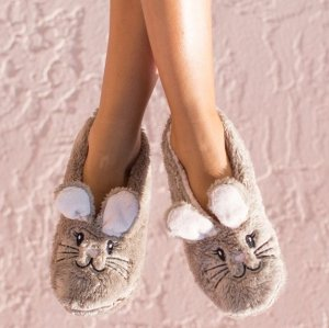 Faceplant Dreams Snuggle Bunny Slippers