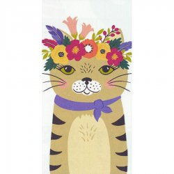 Floral Cat Printed Dual Kitchen Towel #19630