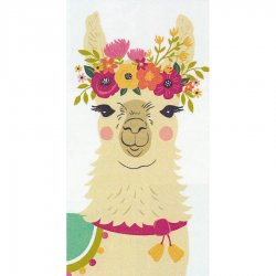 Floral Llama Printed Dual Kitchen Towel #19625