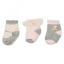 Mud Pie Dream In Glitter Cotton Sock Set of 3