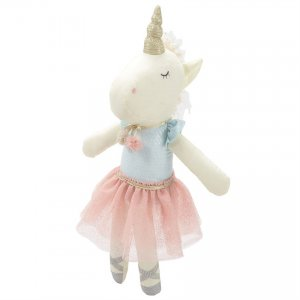 Mud Pie Linen Plush Tutu Unicorn Doll