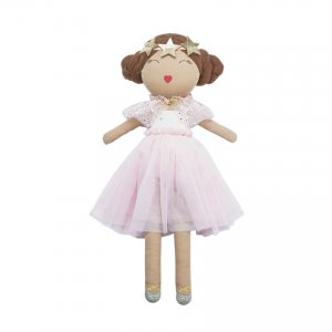Mud Pie Pink Mesh Ballerina Plush Doll