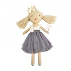 Mud Pie Gray Mesh Ballerina Plush Doll