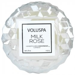 Voluspa Milk Rose Covered Glass Votive Candle