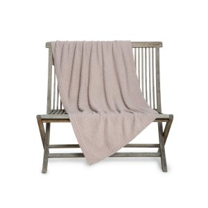 Barefoot Dreams Waffle Throw Blanket - Faded Rose
