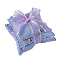"""Sonoma Lavender"" Square Sachet Trio In Embroidered Silk"