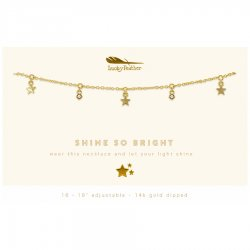 Lucky Feather 14K Gold Dipped Necklace - Shine So Bright