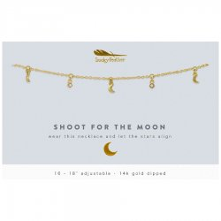 Lucky Feather 14K Gold Dipped Necklace - Shoot For The Moon