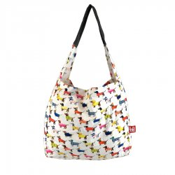 Love Bags Stash It Shopping Tote - Dog Party