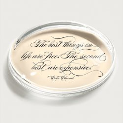Bens Garden Paperweight - Coco Chanel Quote