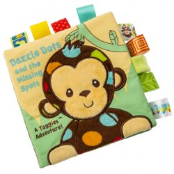 "Taggies Dazzle Dots Monkey Soft Book – 6""×6"""