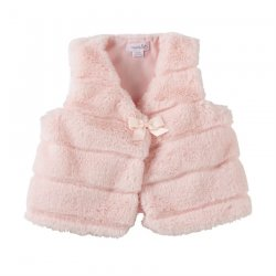 Mud Pie Pink Faux Fur Infant Vest