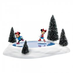 Department 56 Mickey & Minnies Animated Pond