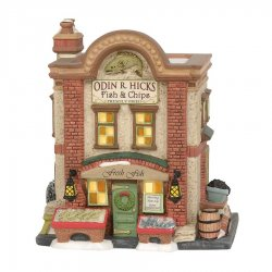 Department 56 Odin R. Hicks Fish & Chips
