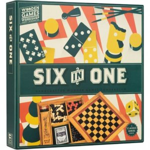 Wooden Game - 6-in-1 Game Set