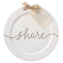 "Mud Pie Ceramic ""Share"" Platter"