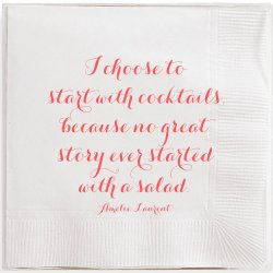 Box of 40 Cocktail Napkins - Amelie Laurent