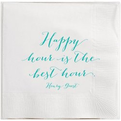 Box of 40 Cocktail Napkins - Henry Guest