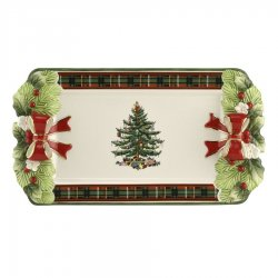 "SPODE ""Christmas Tree"" 12 Inch Tartan Tray #1698369"