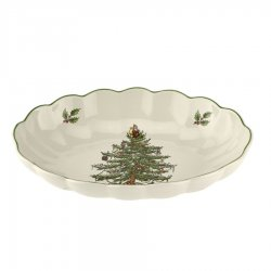 "SPODE ""Christmas Tree"" Fluted Oval Server #1697966"