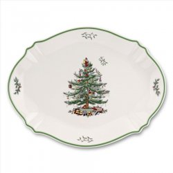 "SPODE ""Christmas Tree"" Oval Platter #1556171"
