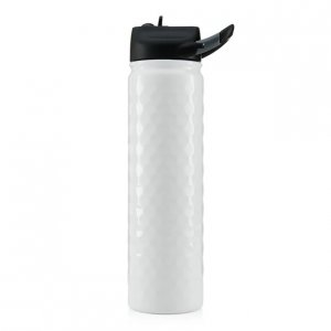 SIC Cups 27 oz Hot/Cold Sports Bottle - White Golf Dimple
