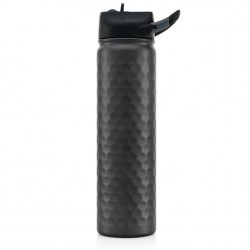 SIC Cups 27 oz Hot/Cold Sports Bottle - Black Hammered