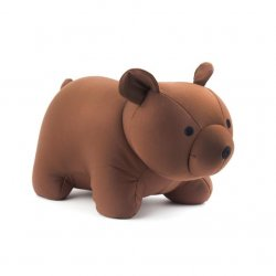 Zip and Flip Bear Head Rest - Brown