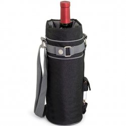 Picnic Time Single Wine Bottle Holder - Black